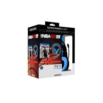 Pack Konix Casque + Jeu NBA 2K19 PS4