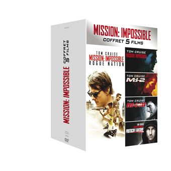 Mission : Impossible  Les FilmsCoffret Mission impossible 5 films DVD