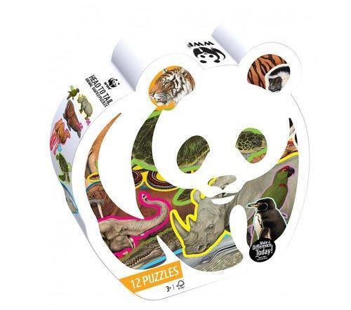 12 Puzzles Animaux des formes WWF