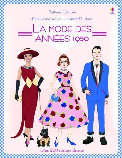 J'habille mes amies - à travers l'Histoire - La mode des années 1950 - Autocollants Usborne