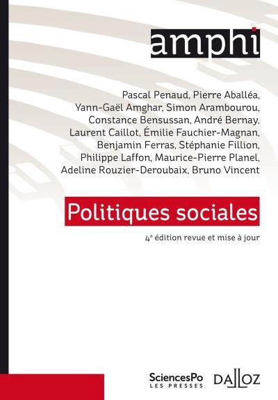 Politiques sociales - 5e éd. de Pascal Penaud