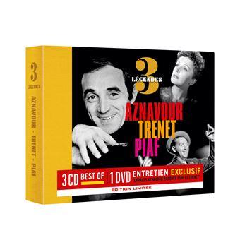 3 Légendes Charles Aznavour raconte Édith Piaf et Charles Trenet Coffret Edition Limitée Inclus DVD