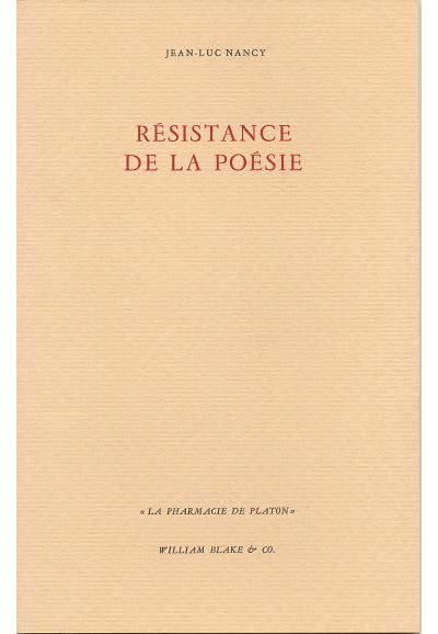 Resistance de la poesie