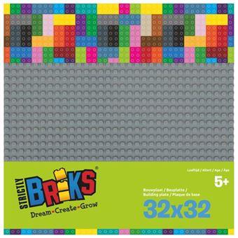 Strictly BRIKS LBP32DG Bouwplaat 32x32 Donkergrijs