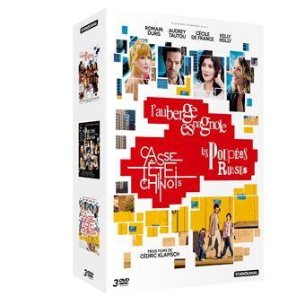 L'Auberge espagnole - Les poupées russes - Casse-tête chinois Coffret DVD