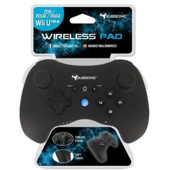 Manette sans fil Subsonic pour Nintendo Wii U Noire