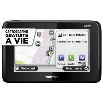 Navigation GPS TOMTOM GO LIVE CAMPER ET CARAVAN NOIR EUROPE 45 PAYS CARTE A VIE