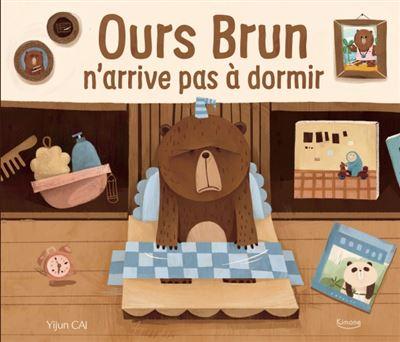 Ours brun n'arrive pas à dormir