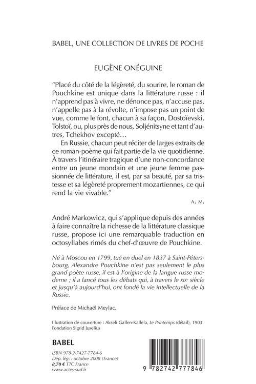Eugene Oneguine Babel