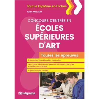 Concours d'entrée en Ecoles supérieures d'art