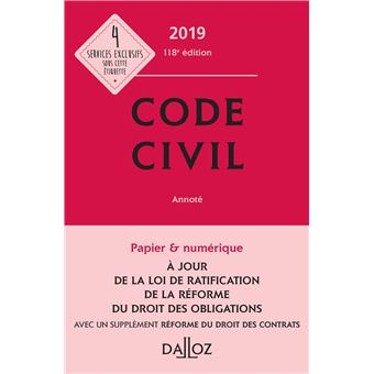 Code civil 2019 amazon