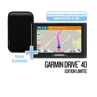 pack gps garmin drive 40 edition limit e housse noire et. Black Bedroom Furniture Sets. Home Design Ideas