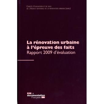 évaluation rénovation urbaine
