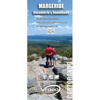 Margeride decouverte et randonnee 1:50 000