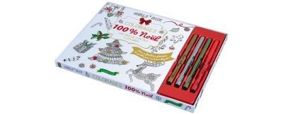 Coloriages 100 % Noël avec 4 feutres