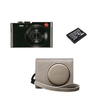Compact Leica C Dark Red + Etui Gold en Cuir + 2e batterie