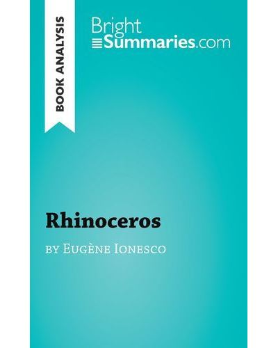 Book analysis, Rhinoceros by Eugène Ionesco