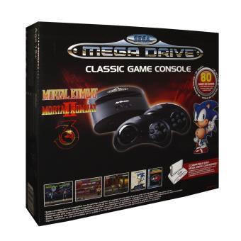 Console Sega Mega Drive Edition Mortal Kombat + 80 jeux + 2 manettes sans fil