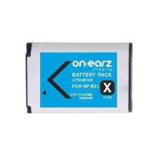 Batterie On.Earz Imaging NP-BX1 Série RX100 3.6 V 1000 mAh Bleue