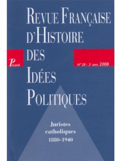 Juristes catholiques : 1880-1940