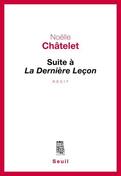 Suite à La Dernière Leçon - 9782021223477 - 11,99 €