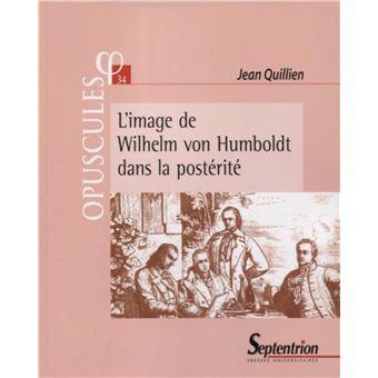 L'anthropologie philosophique de G. de Humboldt - Jean Quillien