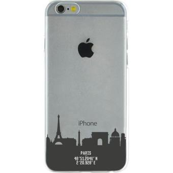 Coque BigBen Transparente Monuments Paris pour iPhone 6 et 6s