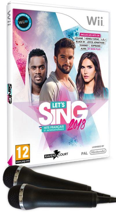Let's Sing 2018 Nintendo Wii + 2 microphones