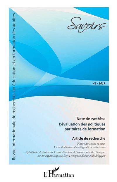 L'évaluation des politiques paritaires de formation