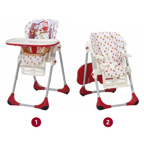 chicco - chaise haute - polly 2 en 1 - happy land - achat & prix