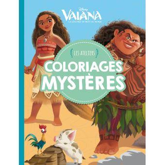 Vaiana Vaiana Les Ateliers Disney Coloriages Mystère