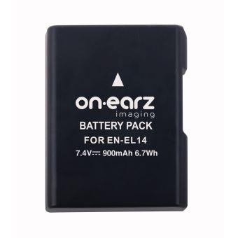 Batterie On.Earz Imaging EN-EL14 7.4 V 900 mAh Noire