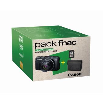 Fnac Pack compactcamera Canon PowerShot SX710 HS Zwart + Hoes + SDHC-kaart 8 GB