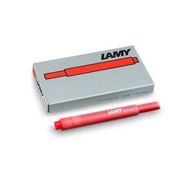 Set de 5 cartouches longues d'encre Lamy Rouge
