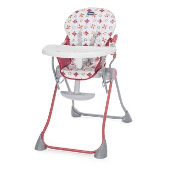 Chaise Haute Chicco Pocket Meal Rouge Et Blanc