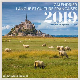 Calendrier langue et culture françaises - 2019
