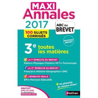 Maxi Annales Brevet 2017