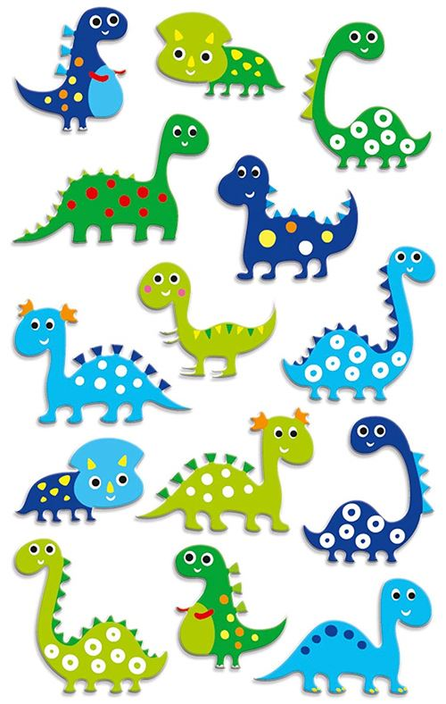 Stickers Maildor Cooky Dinosaures