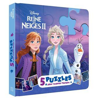 La Reine des neigesLA REINE DES NEIGES 2 - Mon Petit Livre puzzle - 5 puzzles 9 pièces - Disney
