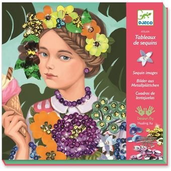 Youg Girls In Flowers Tableaux De Sequins