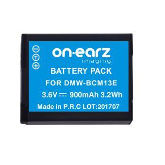 Batterie On.Earz Imaging DMW-BCM13E 3.6 V 900 mAh Bleue et noire