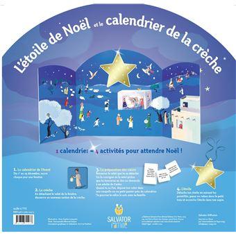 L'étoile de Noël et le calendrier de la crèche