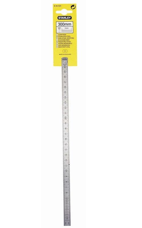 Longueur 30 cm Règlet inox Stanley