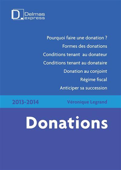 Donations 2013-2014 - 1ère édition
