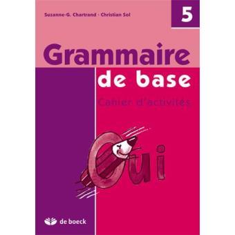Grammaire De Base 5eme Annee