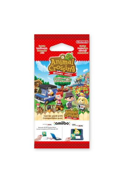 Paquet de 3 Cartes Amiibo Animal Crossing New Leaf New 3DS