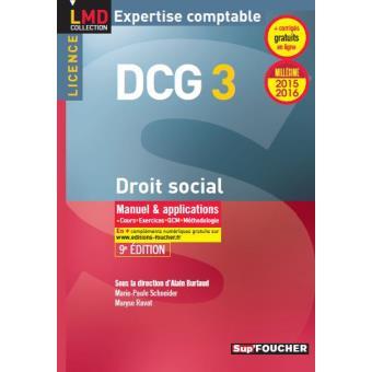 dcg 3 droit social manuel et applications millesime 2017 2018 11e edition lmd collection expertise comptable