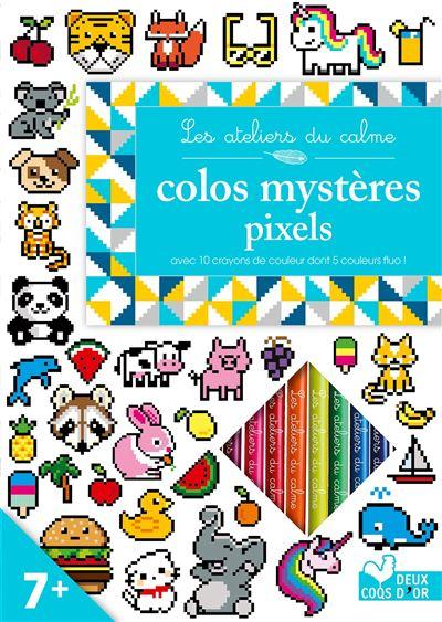 Colos pixels - Carnet avec crayons de couleur - Carnet avec crayons de couleur