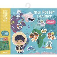 Mon poster a animer - le monde (nouvelle edition)