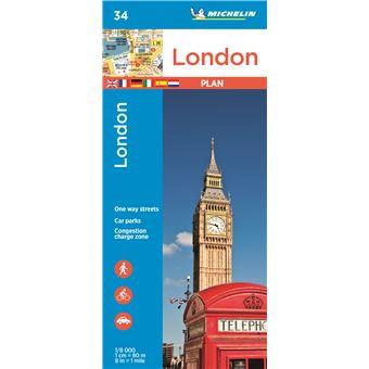Plan Londres Michelin 1/8000 Plan avec un répertoire   broché